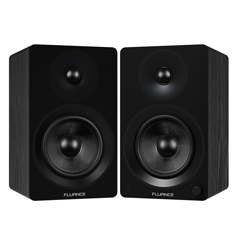 "Ai60 Powered 6.5"" High Performance Bookshelf Speakers - Black - Main"