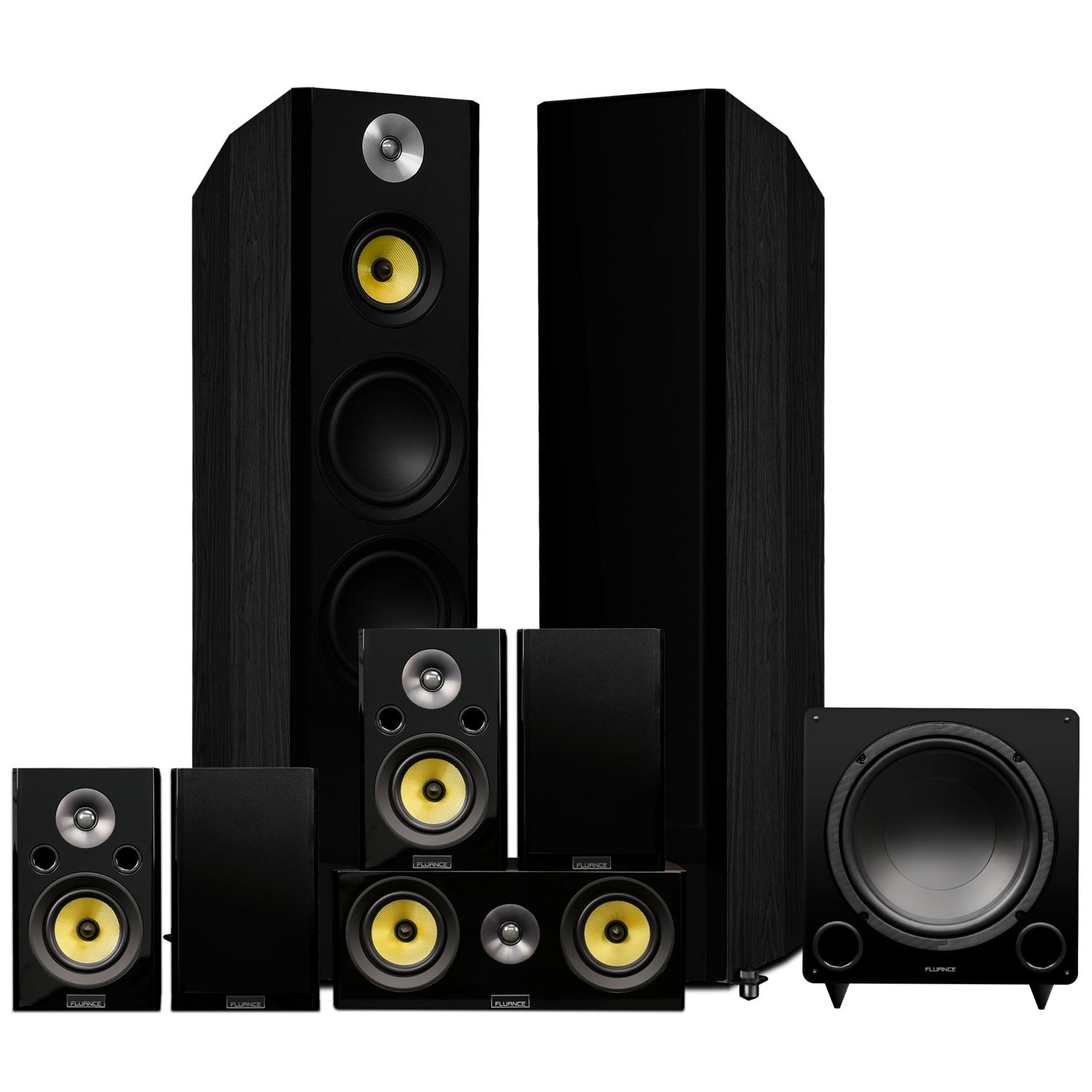 Signature Series Black Ash Surround Sound Home Theater 7.1 Channel Speaker System