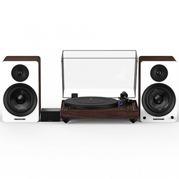 """Reference RT84 High Fidelity Vinyl Turntable with PA10 Phono Preamp and Ai60 6.5"""" Powered Bookshelf Speakers"""