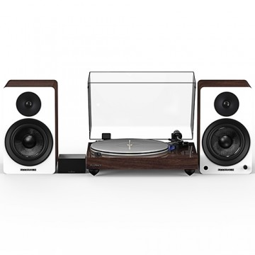 """Reference RT85 High Fidelity Vinyl Turntable with PA10 Phono Preamp and Ai60 6.5"""" Powered Bookshelf Speakers"""