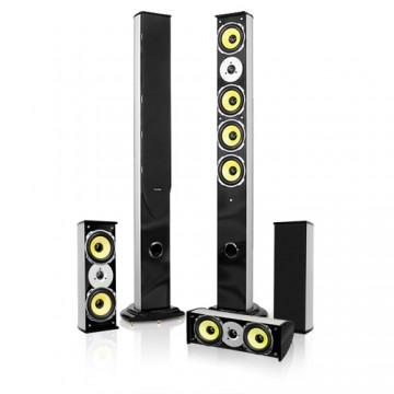 Higher Fidelity 5 Speaker Surround Sound Home Theater System