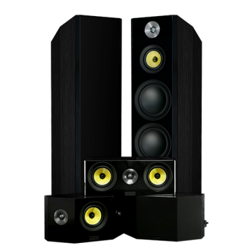Fluance Signature Series Hi-Fi 5.0 Home Theater Speaker System With Bipolar Speakers