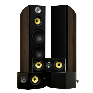 Signature Hi-Fi 5.0 Home Theater Speaker System with Bipolar Speakers