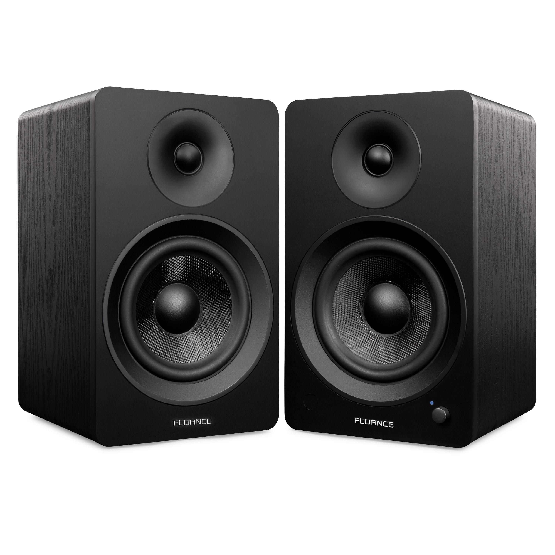 "Ai60 Powered 6.5"" High Performance Bookshelf Speakers - Black"
