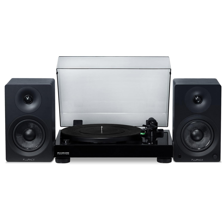 "Elite High Fidelity Vinyl Turntable with Ai40 5"" Powered Bookshelf Speakers"