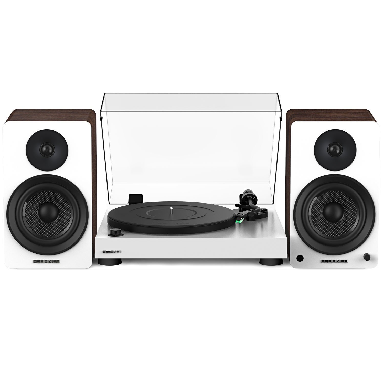 "RT81 Elite High Fidelity Vinyl Turntable with Ai61 Powered 6.5"" Stereo Bookshelf Speakers"