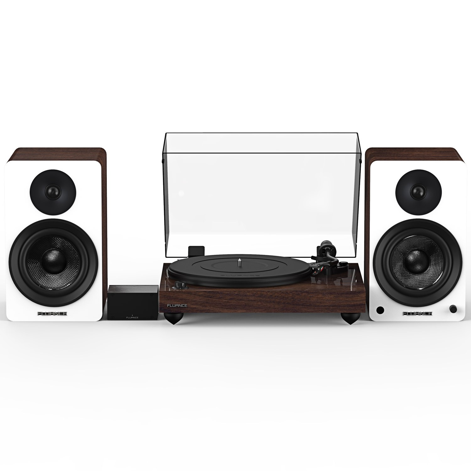 "Reference RT82 High Fidelity Vinyl Turntable with PA10 Phono Preamp and Ai61 Powered 6.5"" Bookshelf Speakers"