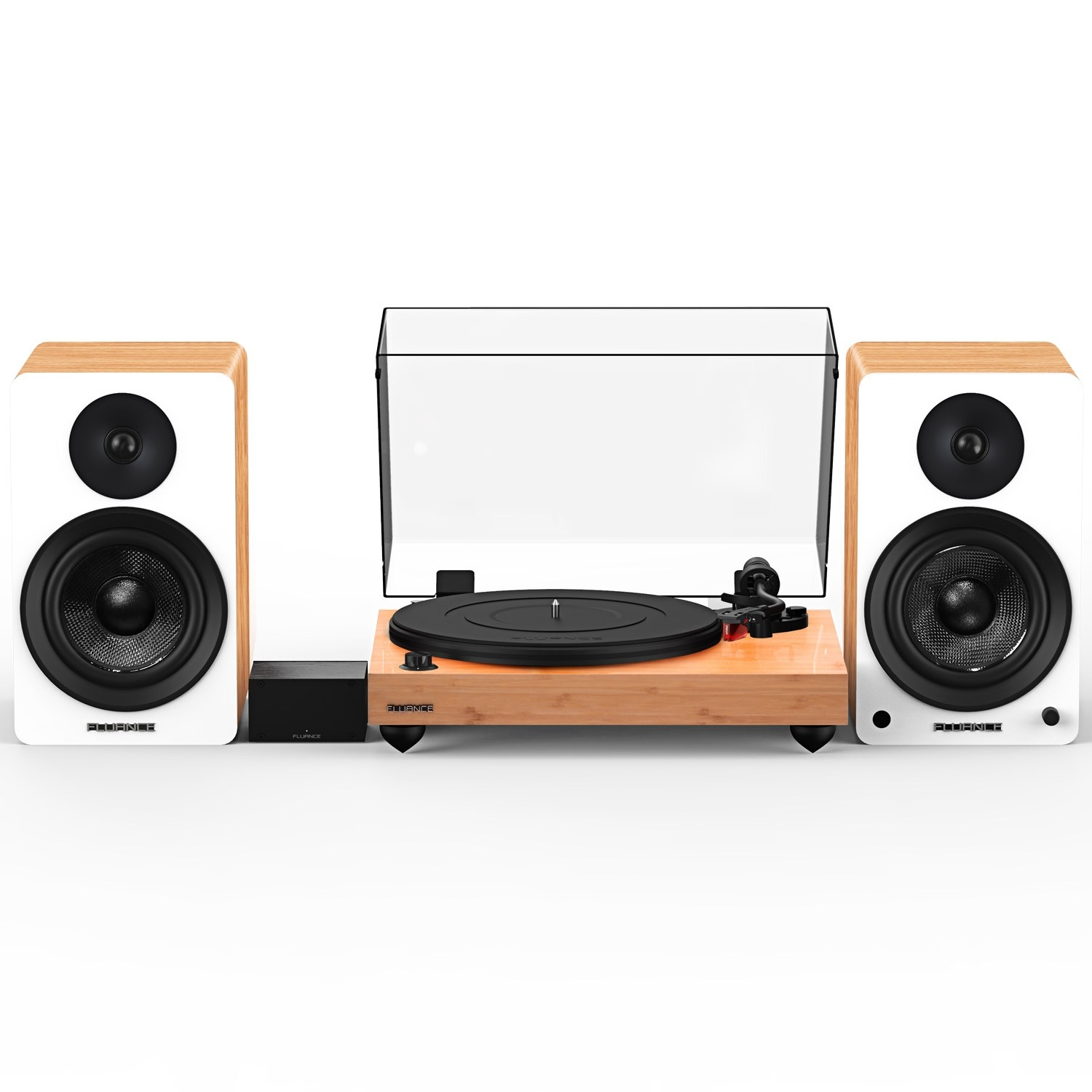 """Reference RT83 High Fidelity Vinyl Turntable with PA10 Phono Preamp and Ai61 Powered 6.5"""" Stereo Bookshelf Speakers"""