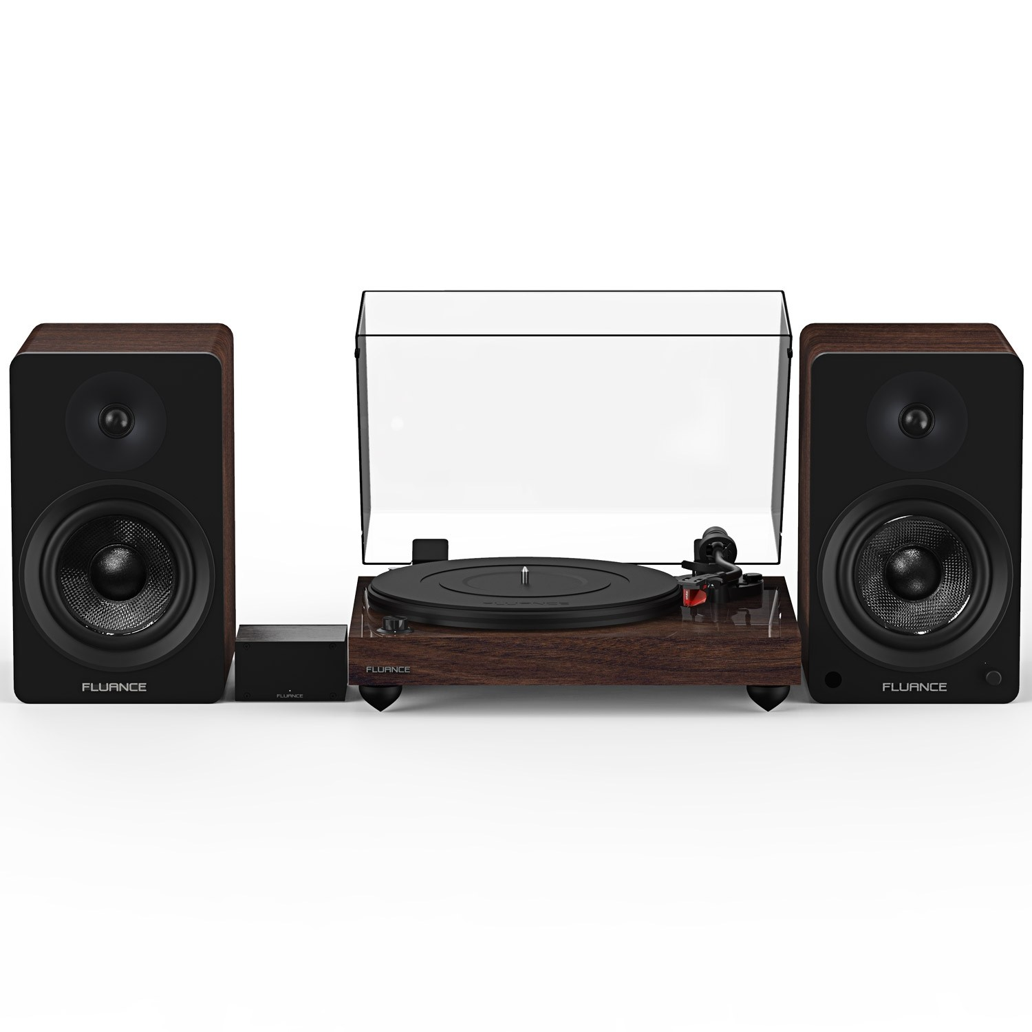 "Reference RT83 High Fidelity Vinyl Turntable with PA10 Phono Preamp and Ai61 Powered 6.5"" Stereo Bookshelf Speakers"