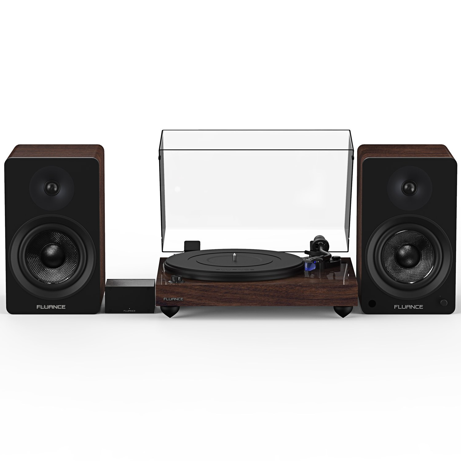 "Reference RT84 High Fidelity Vinyl Turntable with PA10 Phono Preamp and Ai61 Powered 6.5"" Stereo Bookshelf Speakers"