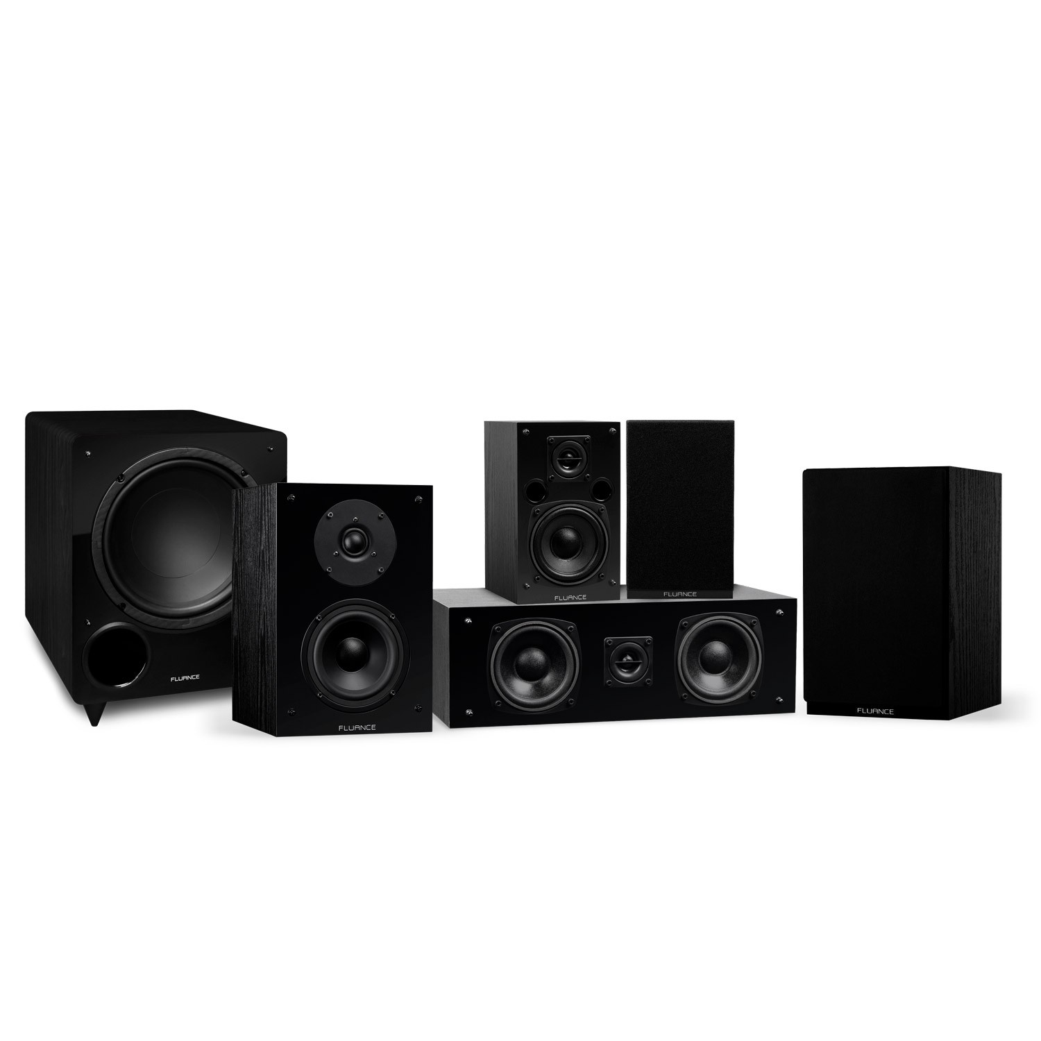 Elite Series Black Ash Compact Surround Sound Home Theater 5.1 Channel Speaker System - Main