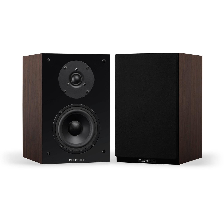Fluance SX6-BK High Definition Two-Way Bookshelf Loudspeakers - Black Ash