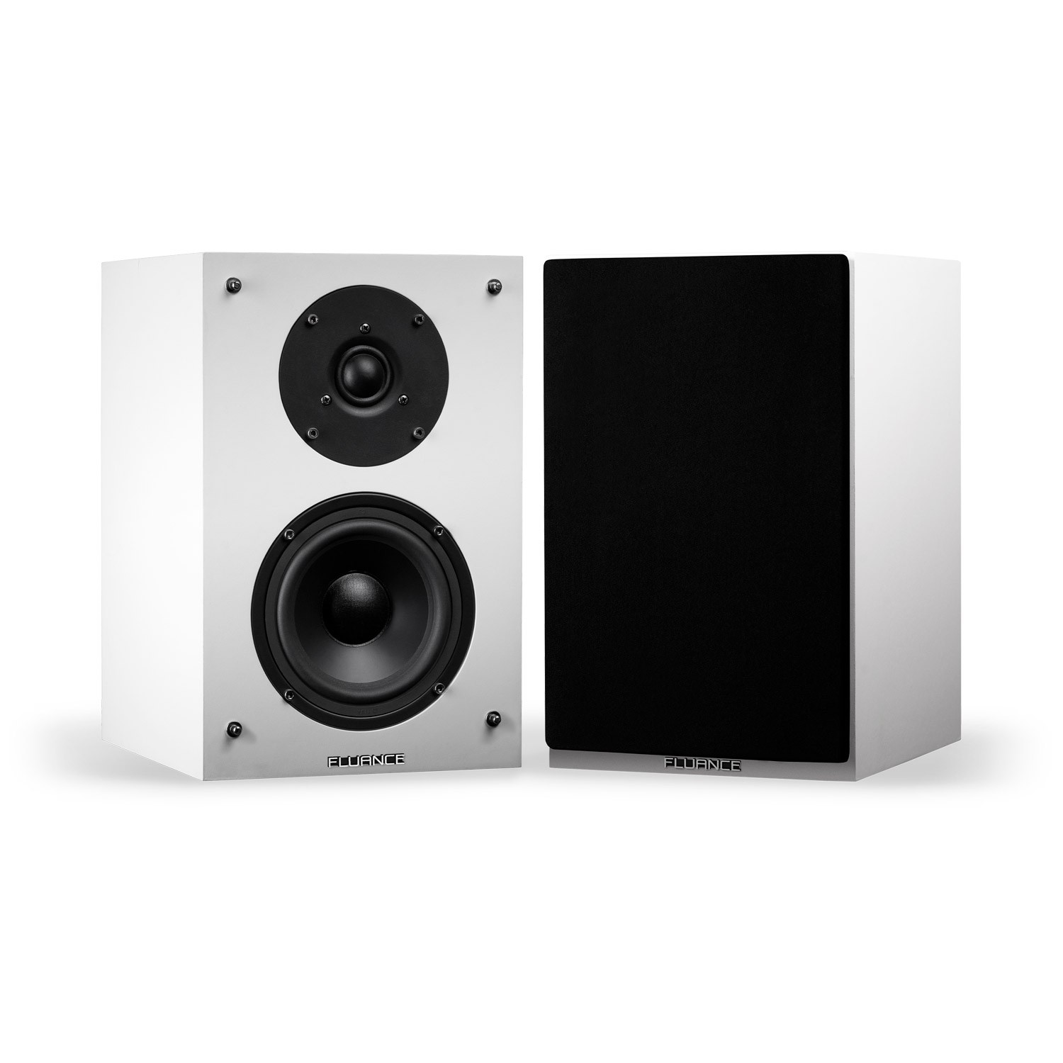 Elite Series High Definition Two-way Bookshelf Loudspeakers - White - Main