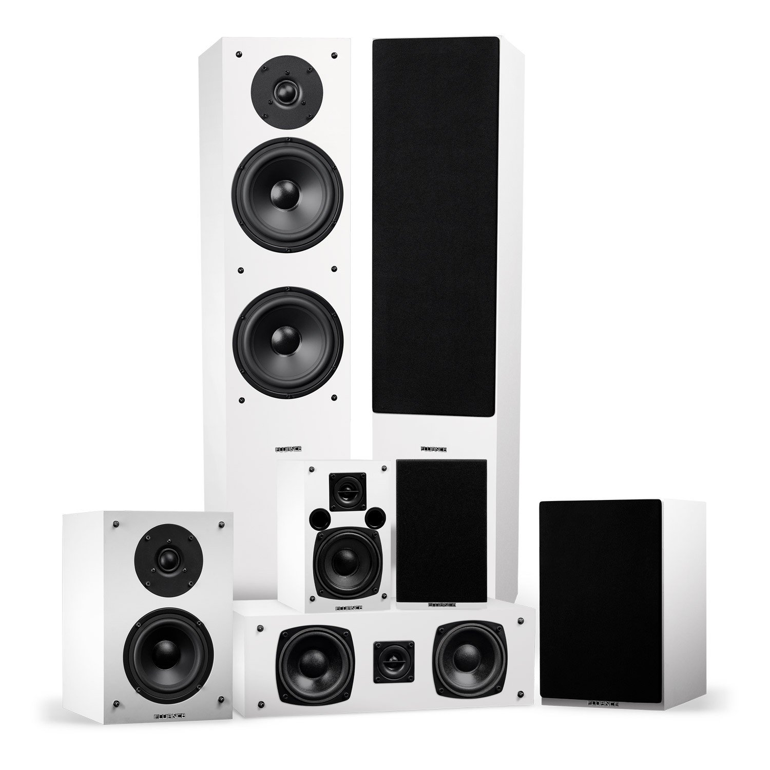 Elite Series Surround Sound Home Theater 7.0 Channel Speaker System - White - Main