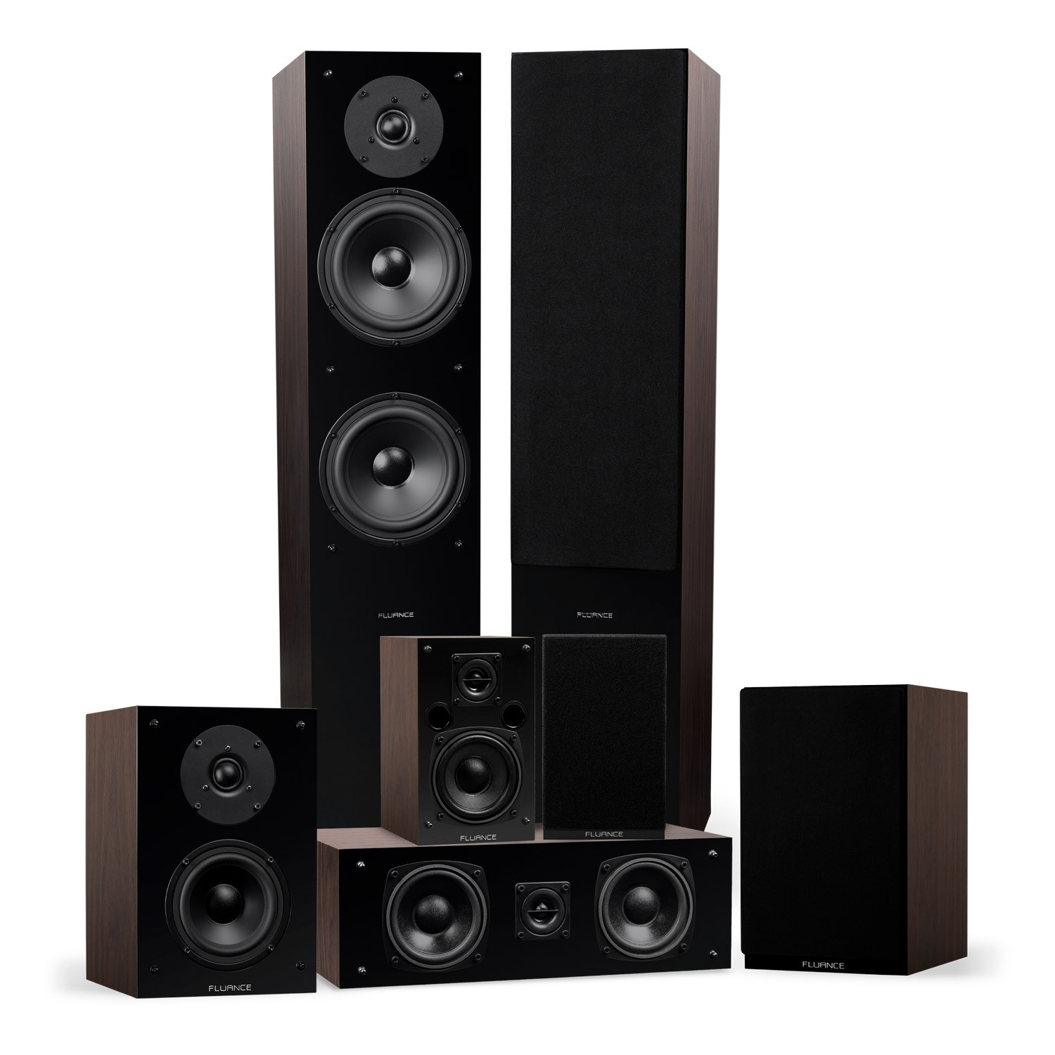 Elite Series Walnut Surround Sound Home Theater 7.0 Channel Speaker System