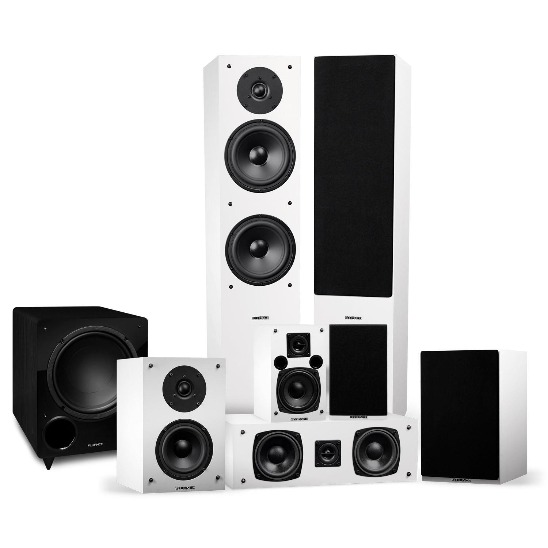 Elite Series Surround Sound Home Theater 7.1 Channel Speaker System - White - Main
