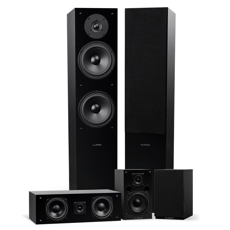 Elite Surround Sound Home Theater 5.0 Channel Speaker System