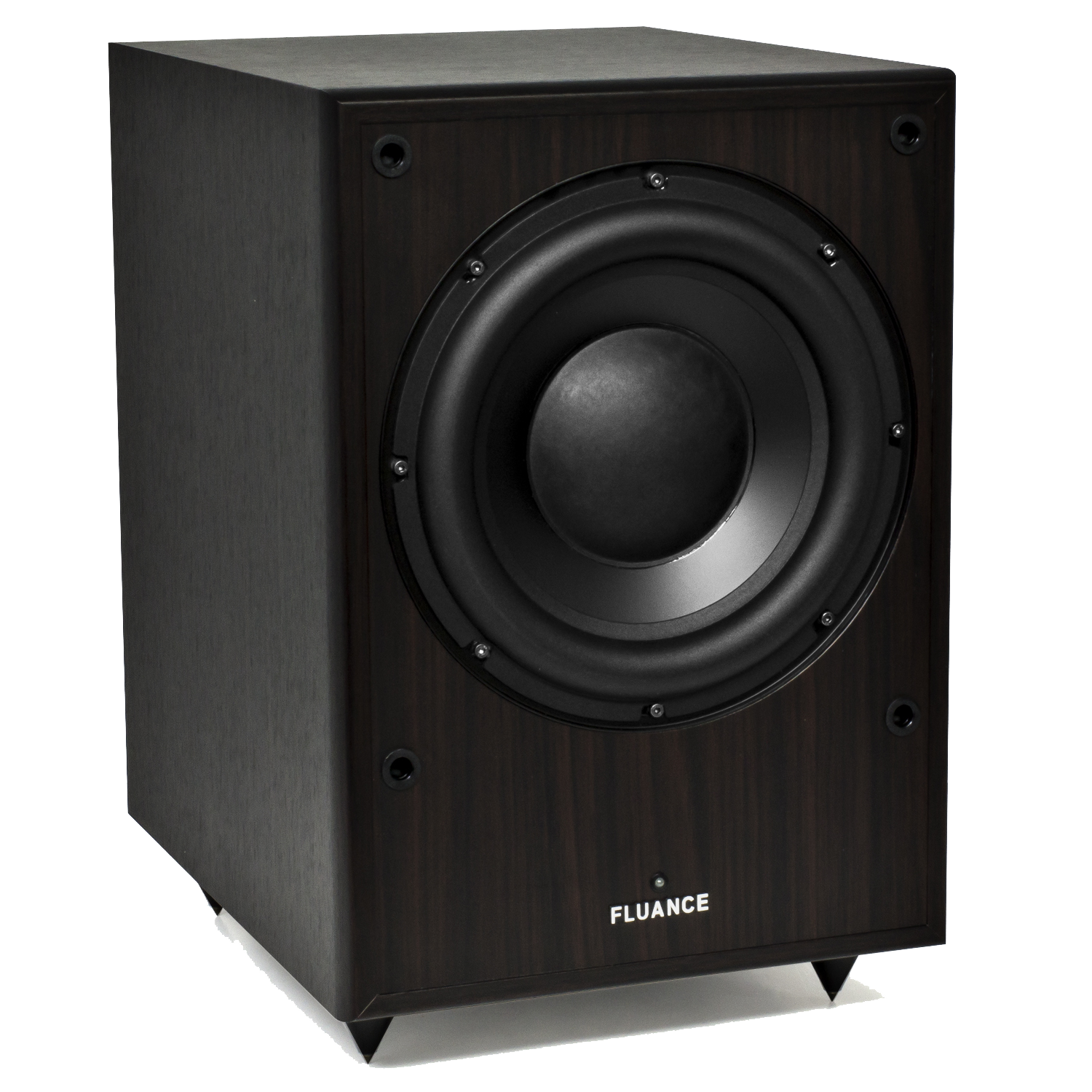Fluance DB150-DW 10 Inch 150 Watt Low Frequency Powered Subwoofer-Dark Walnut