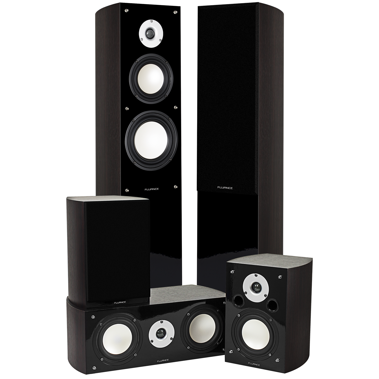 XL5HTB High Performance 5.0 Surround Sound Home Theater Speaker System