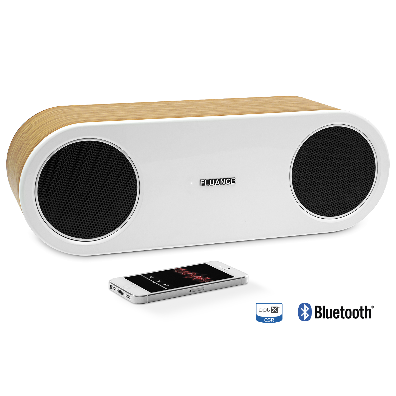 Fi30 High Performance Bluetooth Wood Speaker System - Bamboo