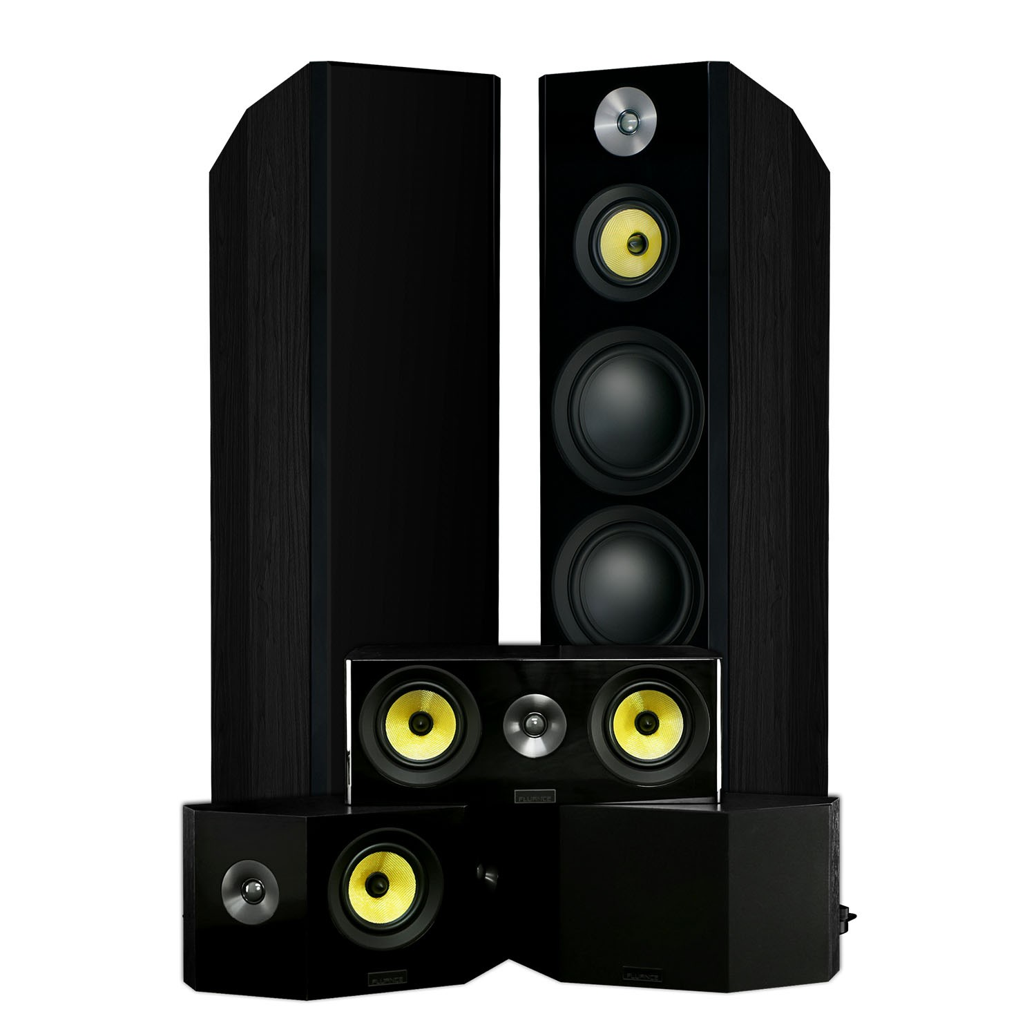 hf50bb signature series 5 0 bipolar home theater system black ash