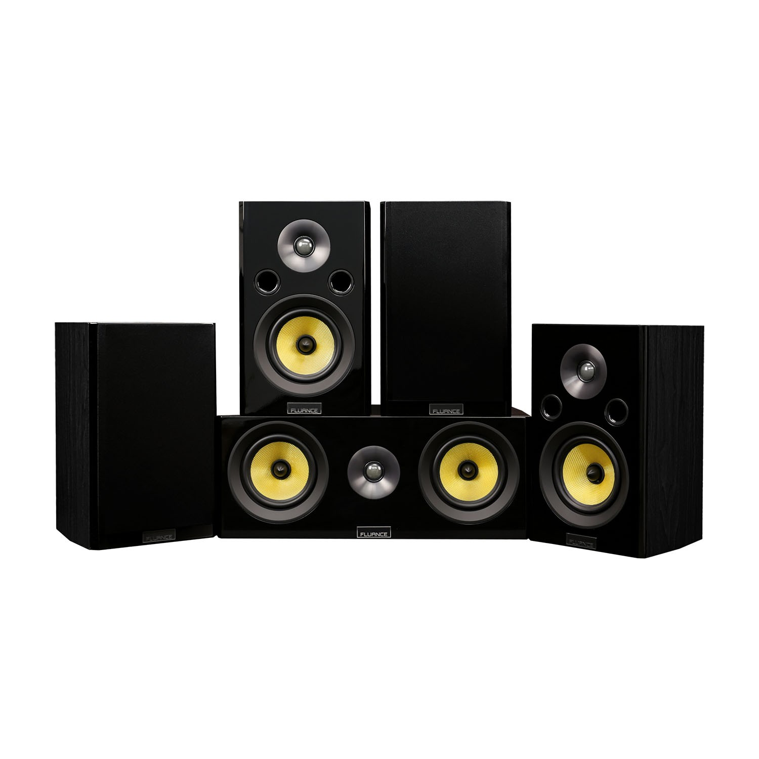 Home Theater Speakers >> Hf50bc Signature Series Surround Sound 5 0 Home Theater System Fluance