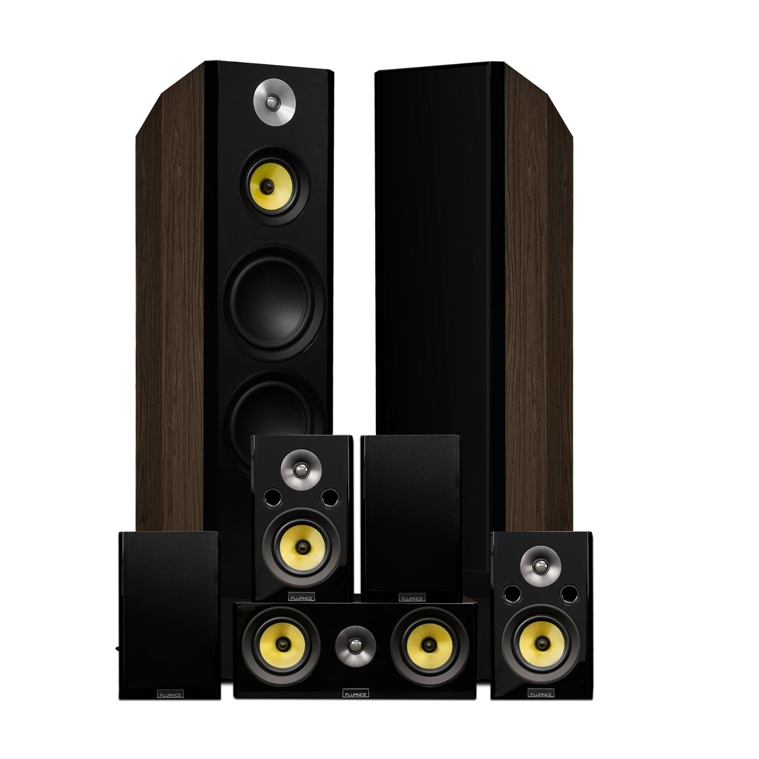 Signature Series Natural Walnut Surround Sound Home Theater 7.0 Channel Speaker System