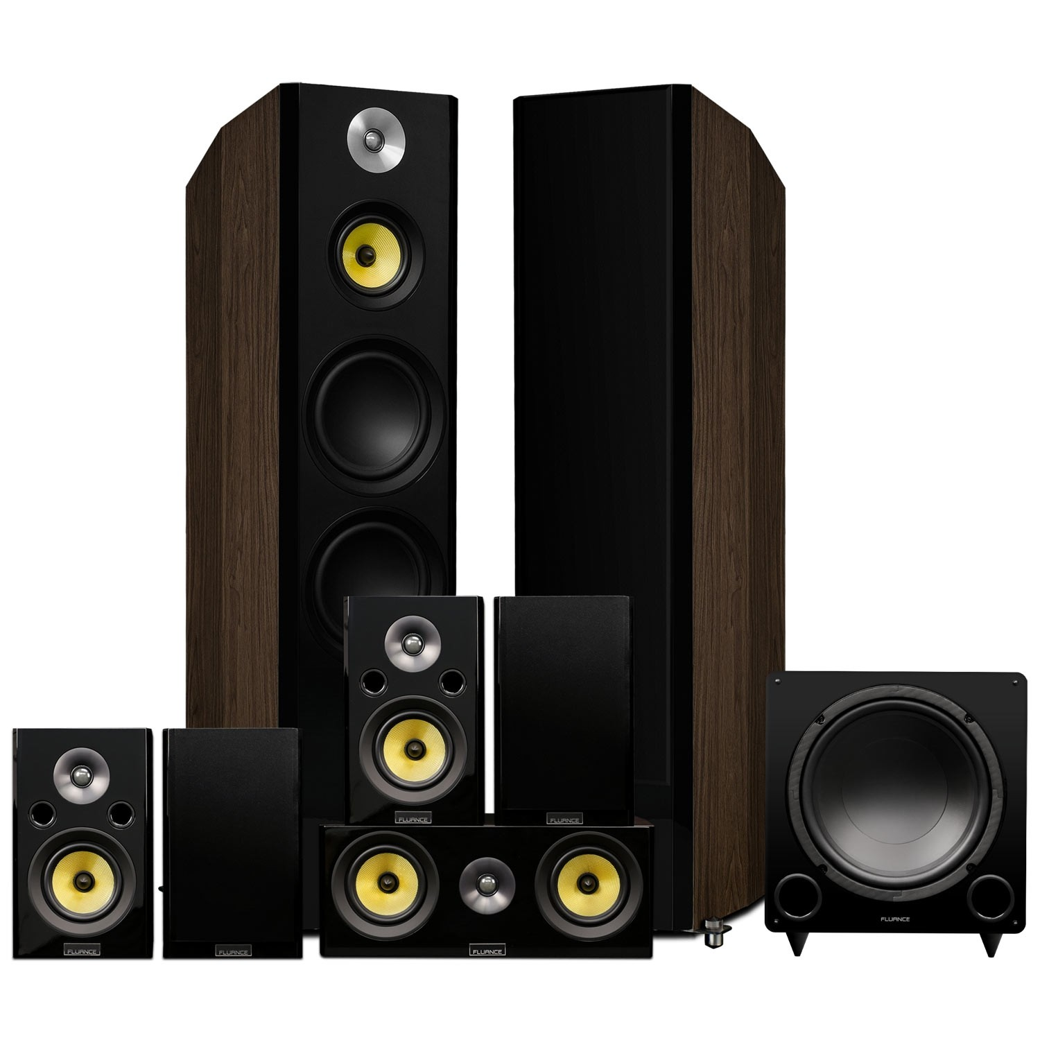 Signature Series Natural Walnut Surround Sound Home Theater 7.1 Channel Speaker System