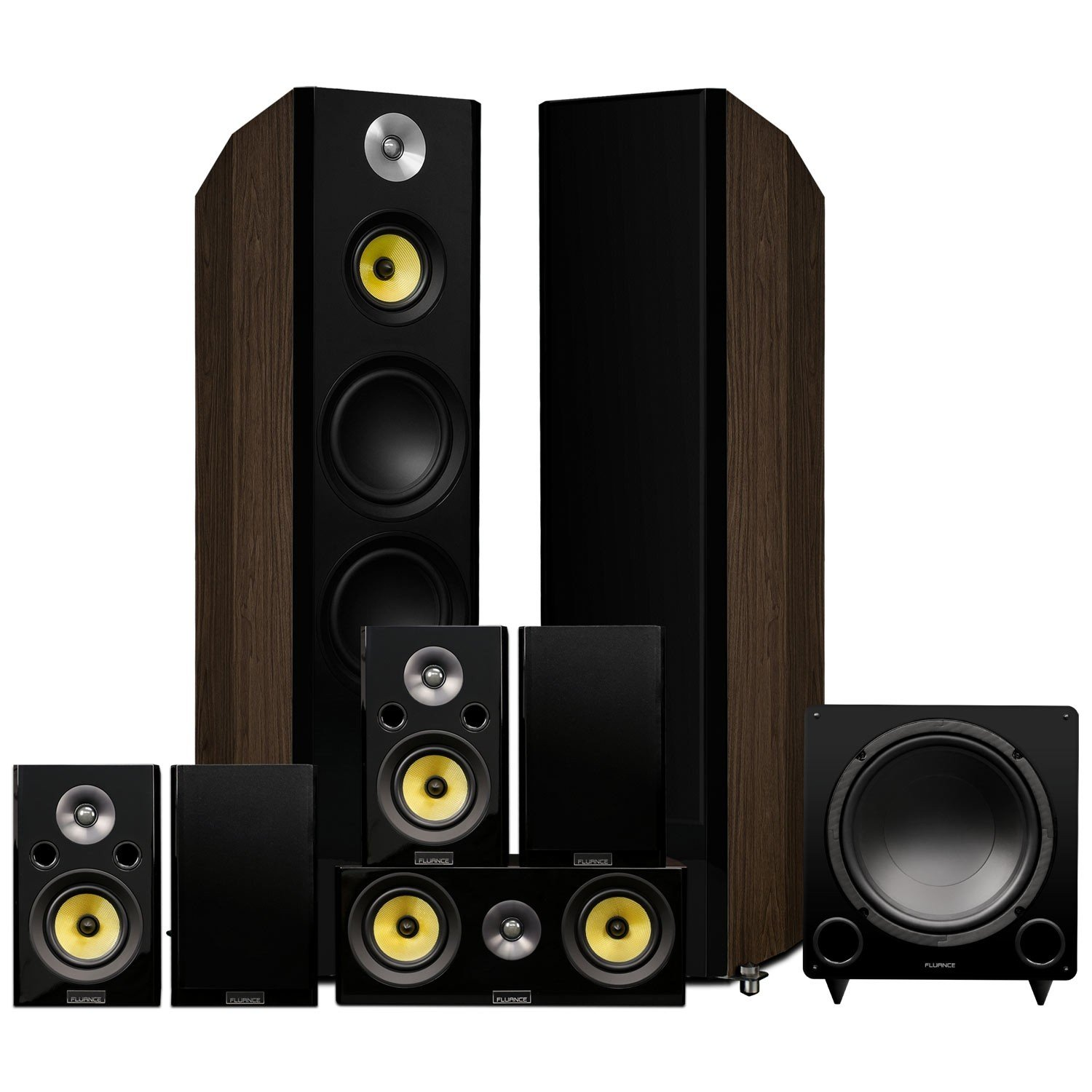 Signature Series Surround Sound Home Theater 7.1 Channel Speaker System - Walnut