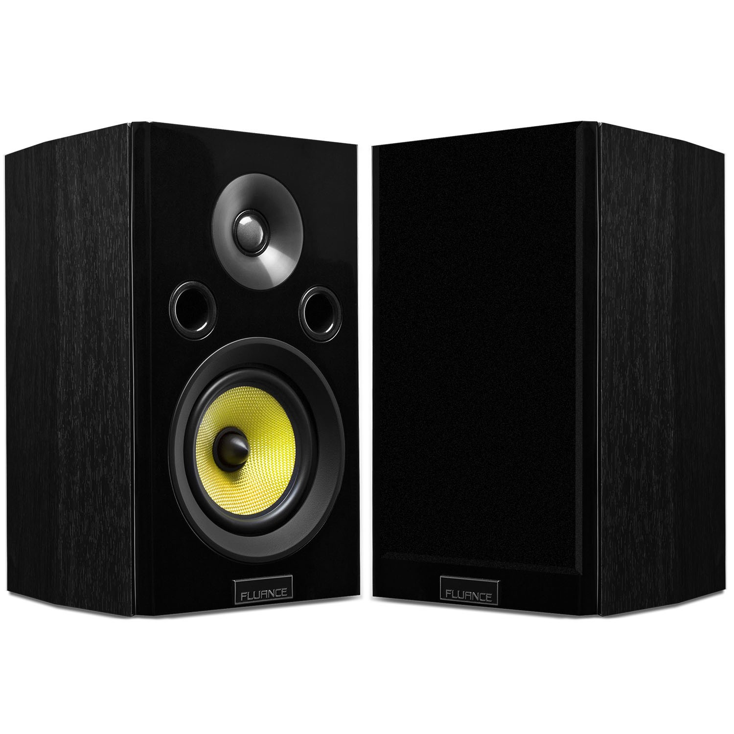 hfs signature series two way bookshelf surround sound speakers fluance