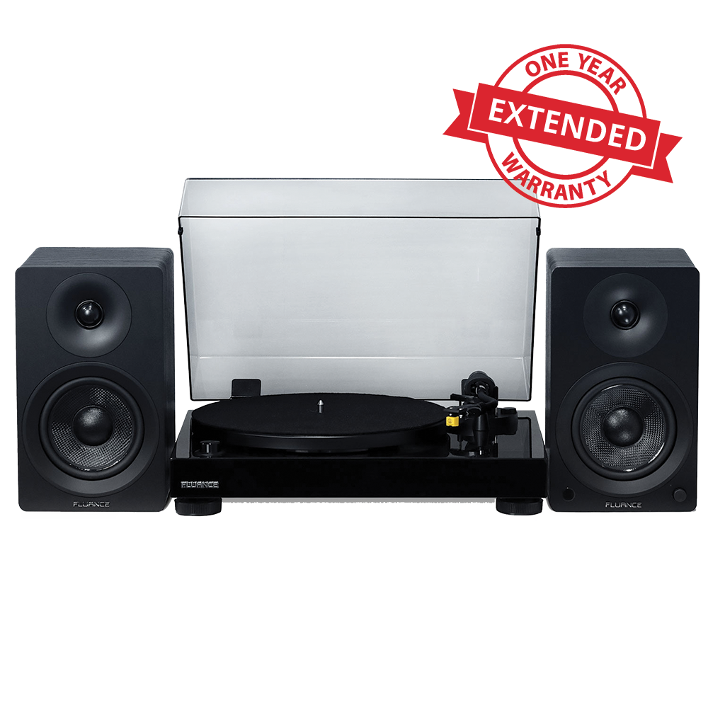 "Extended Warranty for Classic High Fidelity Vinyl Turntable With Ai40 5"" Powered Bookshelf Speakers"