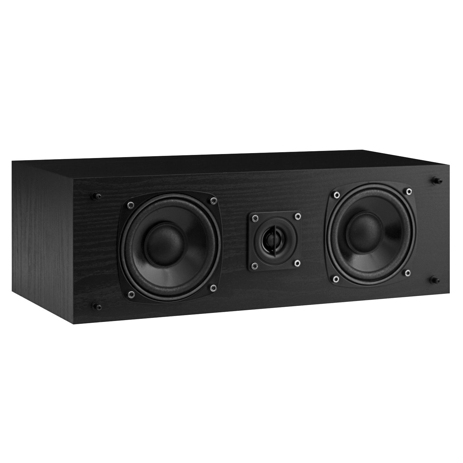 Fluance SXC High Definition Two-Way Center Channel Speaker - Black Ash