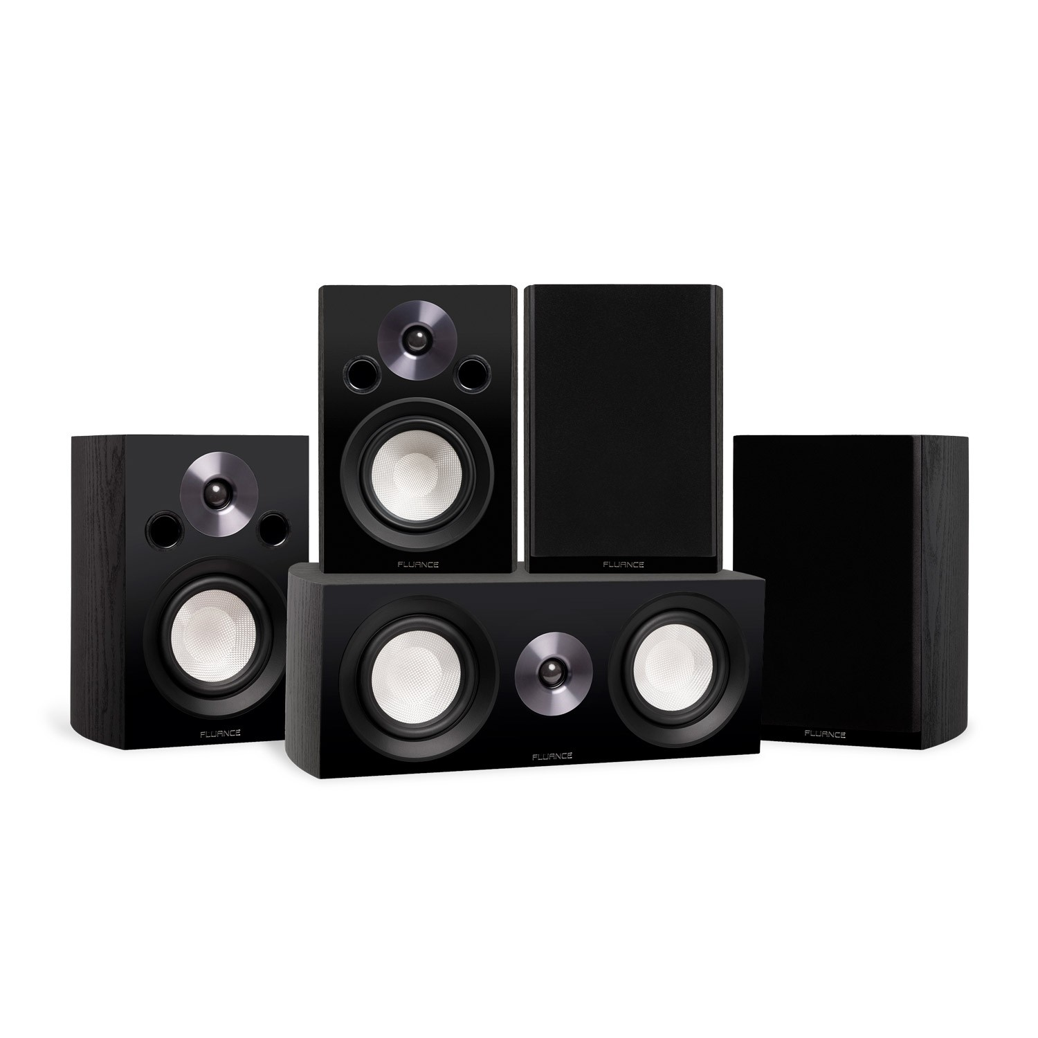 Reference Compact Surround Sound Home Theater 5.0 Channel Speaker System