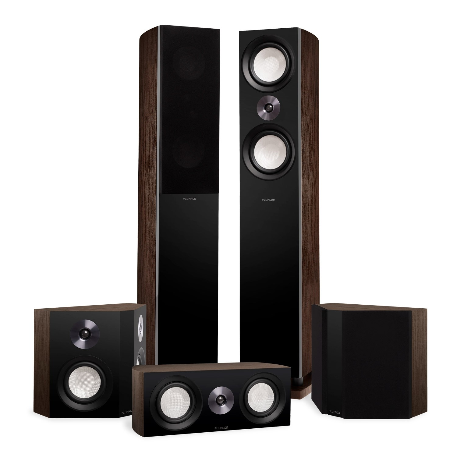 Reference Surround Sound Home Theater 5.0 Channel Speaker System with Bipolar Speakers