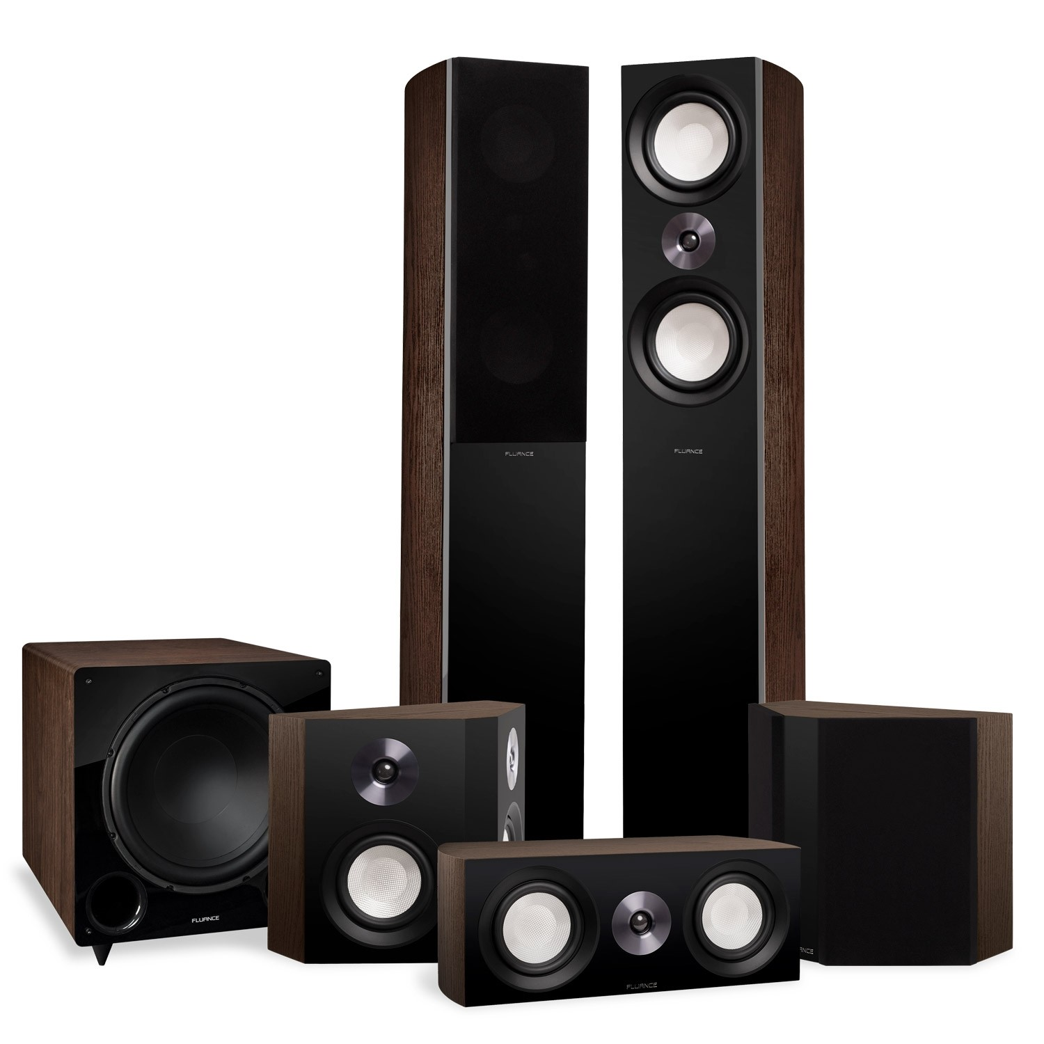 Reference Surround Sound Home Theater 5.1 Channel Speaker System with Bipolar Speakers and DB12 Subwoofer