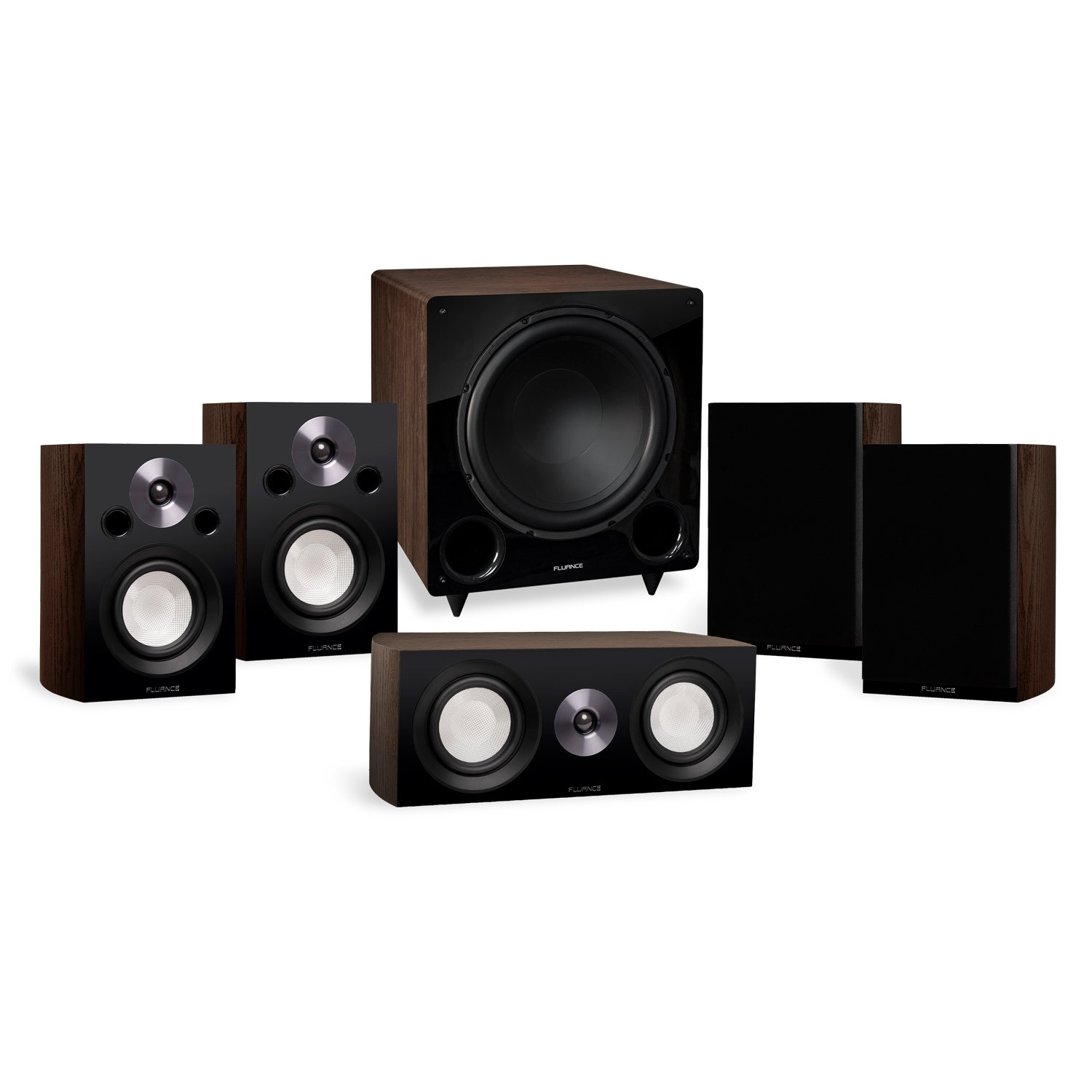 Reference Compact Surround Sound Home Theater 5.1 Channel Speaker System with DB12 Subwoofer