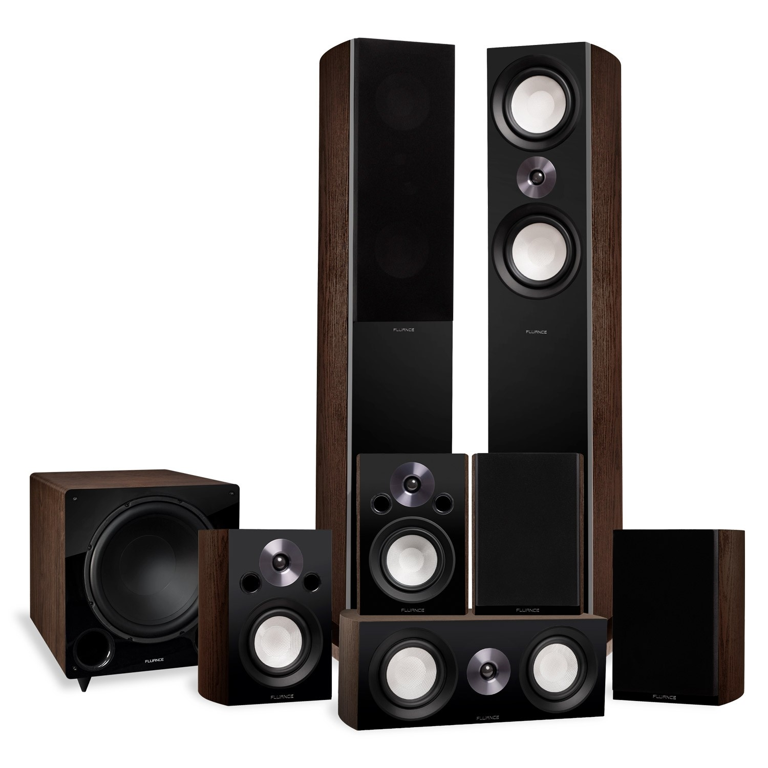 Reference Series Surround Sound Home Theater 7.1 Channel Speaker System with DB12 Subwoofer