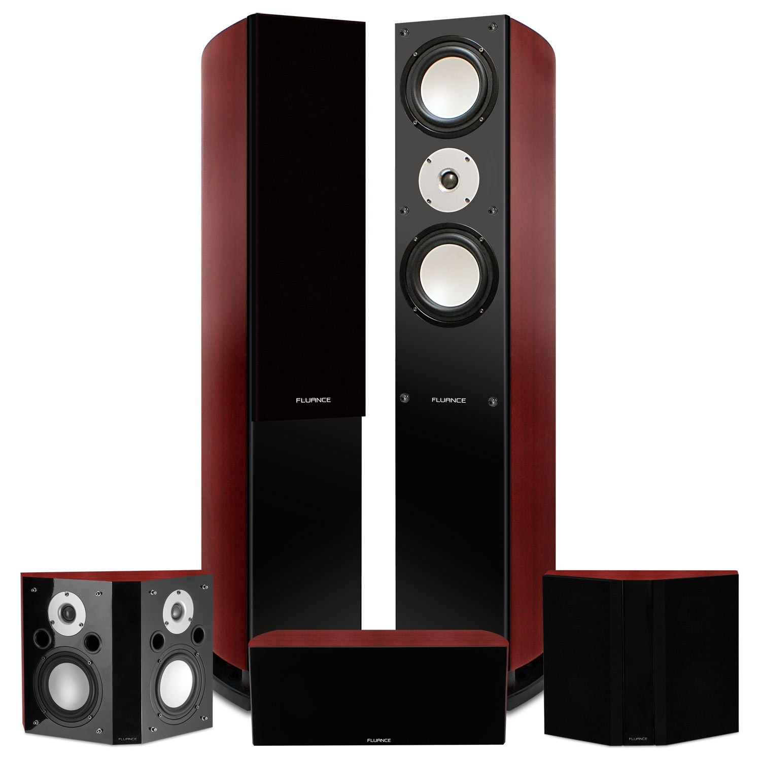 Reference Series Surround Sound Home Theater 5.0 Channel Speaker System - Mahogany