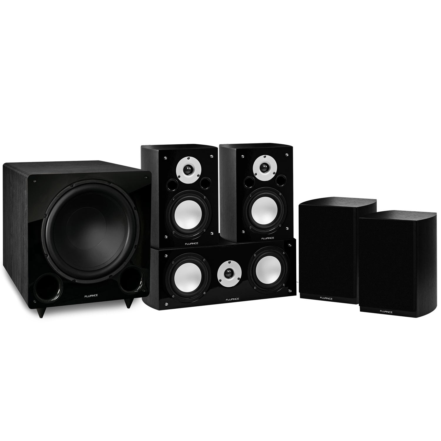 Reference Series Black Ash Compact Surround Sound Home Theater 5.1 Channel Speaker System
