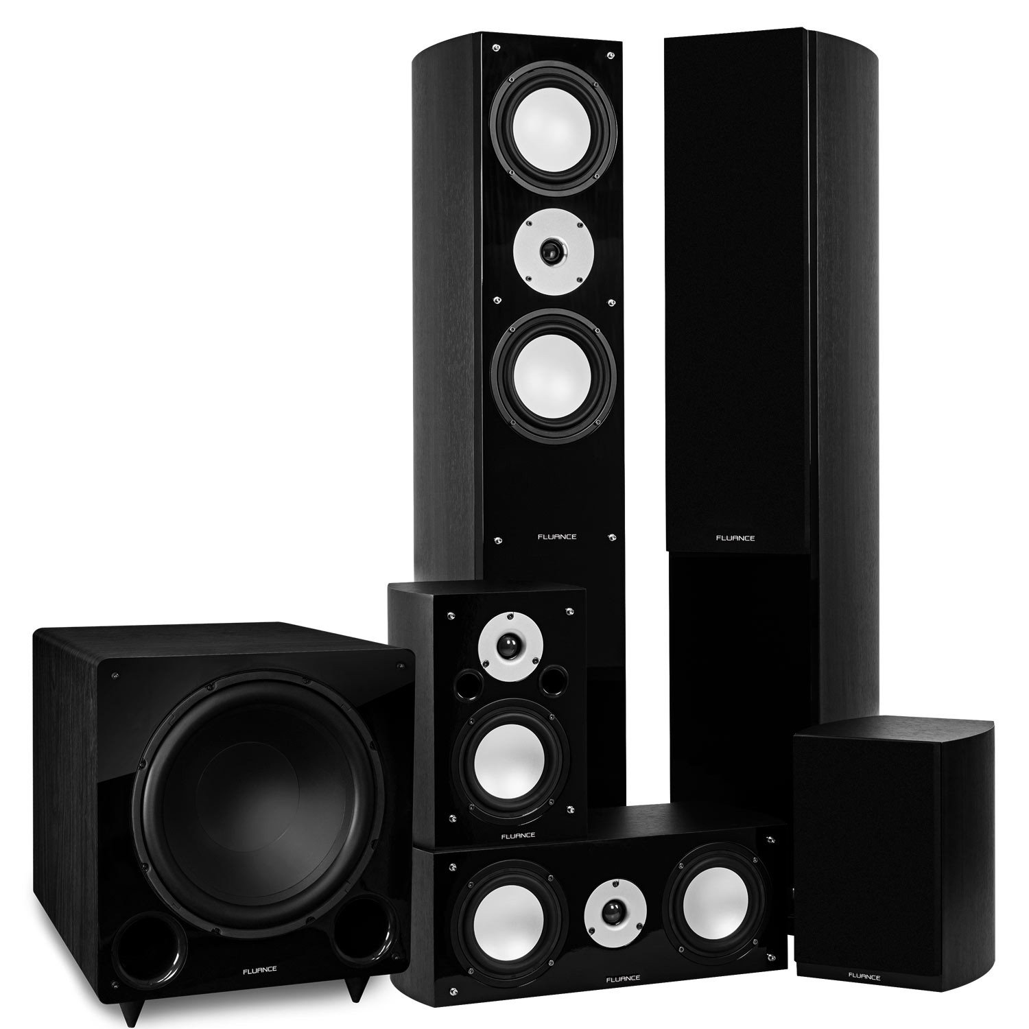 Reference Series Black Ash Surround Sound Home Theater 5.1 Channel Speaker System