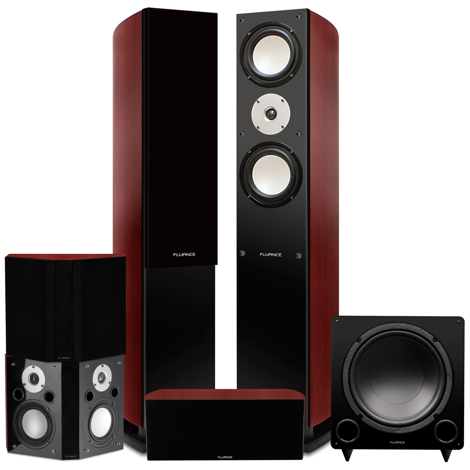Reference Series Surround Sound Home Theater 5.1 Channel Speaker System - Mahogany