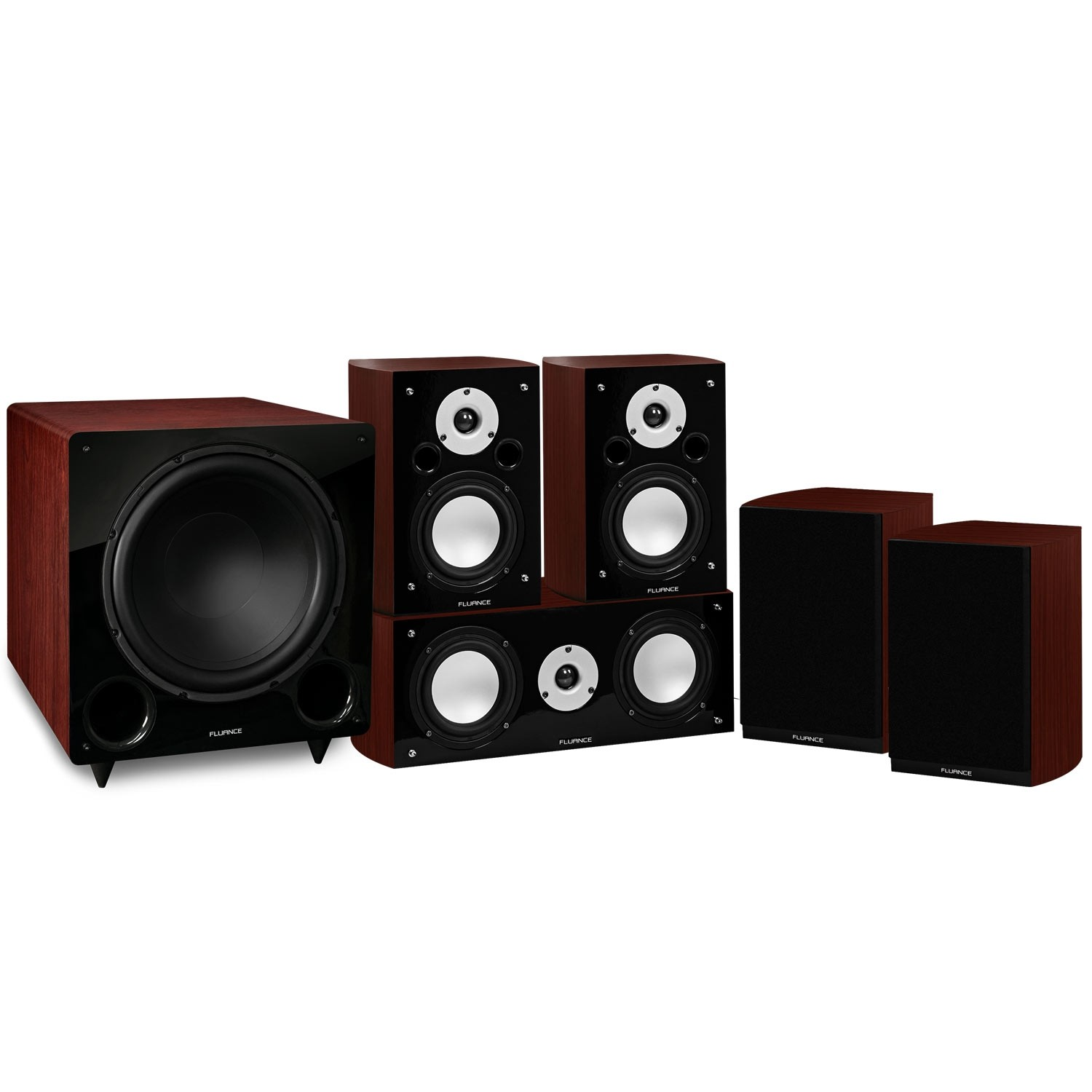 Reference Series Mahogany Compact Surround Sound Home Theater 5.1 Channel Speaker System - Main