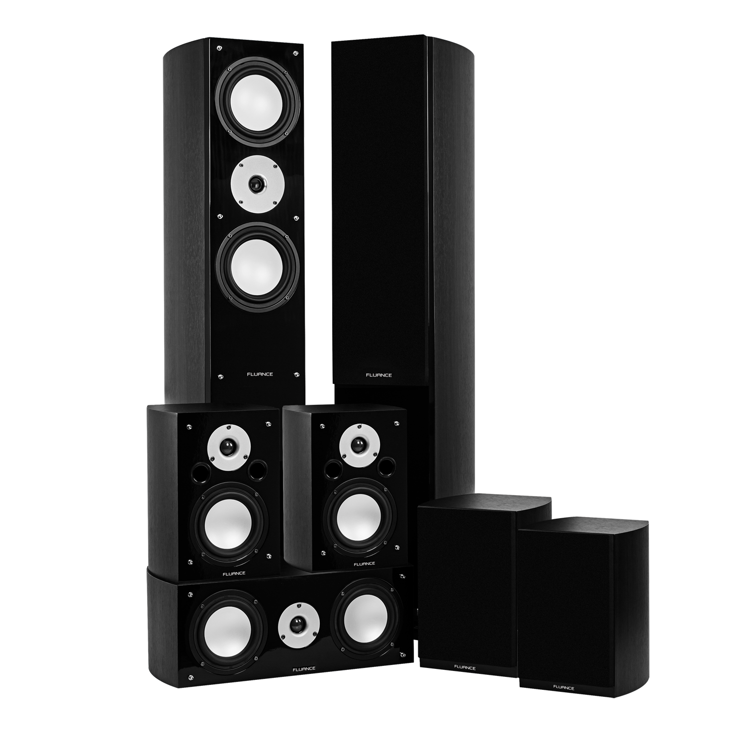 Reference Series Surround Sound Home Theater 7.0 Channel Speaker System - Black