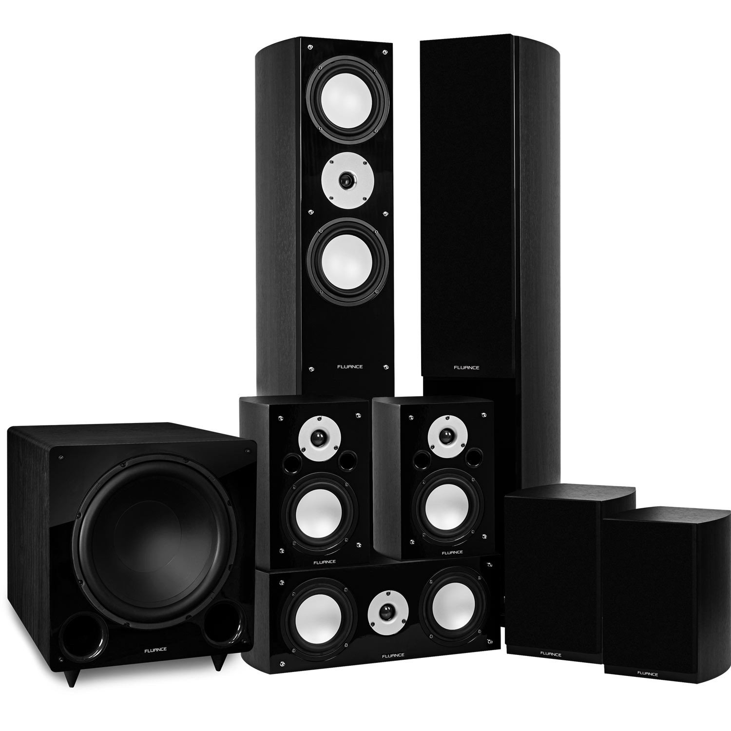 Reference Series Black Ash Surround Sound Home Theater 7.1 Channel Speaker System