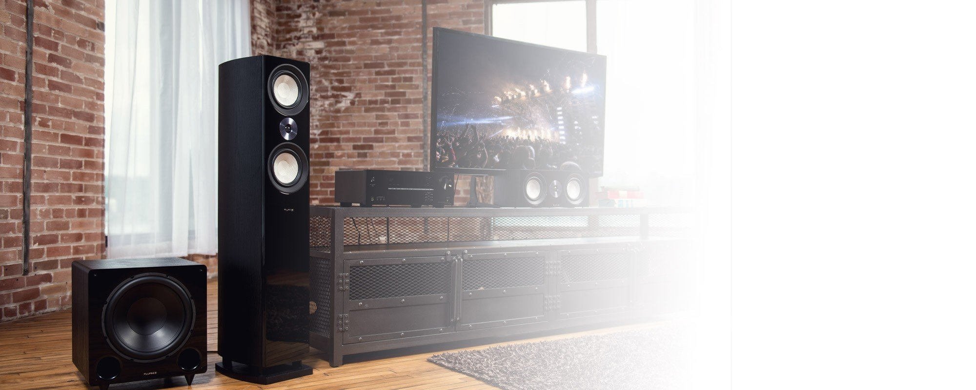 Reference Surround Sound Home Theater 5.1 Channel Speaker System with DB12 Subwoofer - Lifestyle Desktop