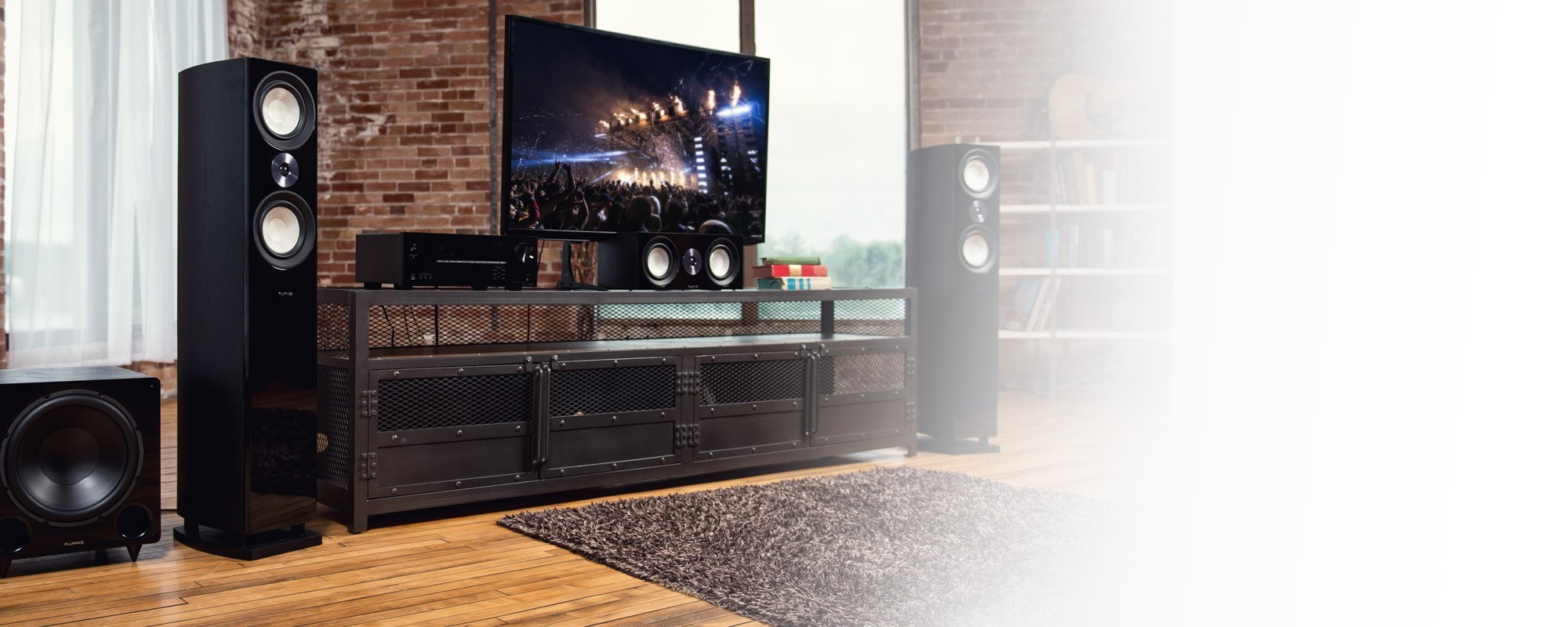 Reference Surround Sound Home Theater 5.1 Channel Speaker System with Bipolar Speakers and DB12 Subwoofer - Lifestyle Desktop