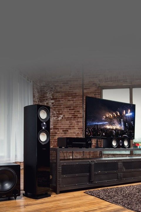 Reference Surround Sound Home Theater 5.1 Channel Speaker System with Bipolar Speakers and DB12 Subwoofer - Lifestyle Mobile