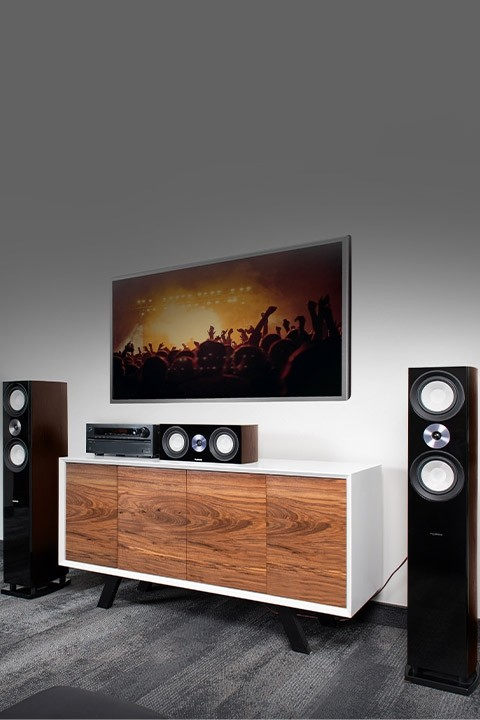 Reference Surround Sound Home Theater 5.0 Channel Speaker System with Bipolar Speakers - Lifestyle Mobile