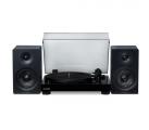 "RT81 Elite High Fidelity Vinyl Turntable with Ai41 Powered 5"" Stereo Bookshelf Speakers Image"
