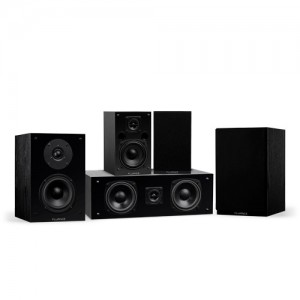 Classic Elite Series Compact Surround Sound Home Theater 5.0 Channel Speaker System - Black Ash - Small